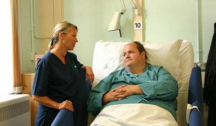 Bariatric patients are much more comfortable with equipment suited to their size
